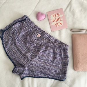 Victoria's Secret VS striped pajama lounge shorts